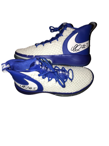 Immanuel Quickley Kentucky SIGNED Team Issued Nike Shoes (Size 13)