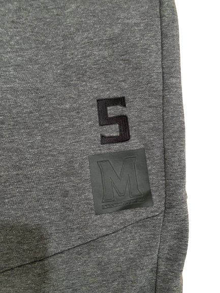 Shaq Smith Maryland Football Player-Exclusive Sweatpants With Number (Size XL)