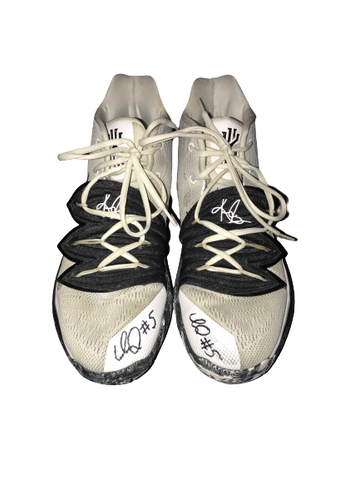 Immanuel Quickley Kentucky SIGNED 2019 March Madness Game Worn Shoes (Size 13) - Photo Matched