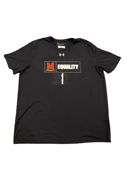 Shaq Smith Maryland Football Player-Exclusive Equality T-Shirt (Size XL)
