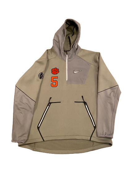 Shaq Smith Clemson Football Player-Exclusive College Football Playoff Zip-Up With Number (Size XL)