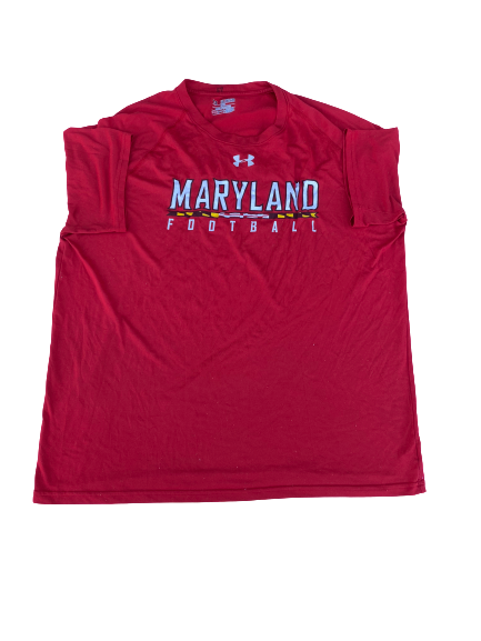 Kingsley Opara Maryland Football Under Armour T-Shirt (Size XXL)