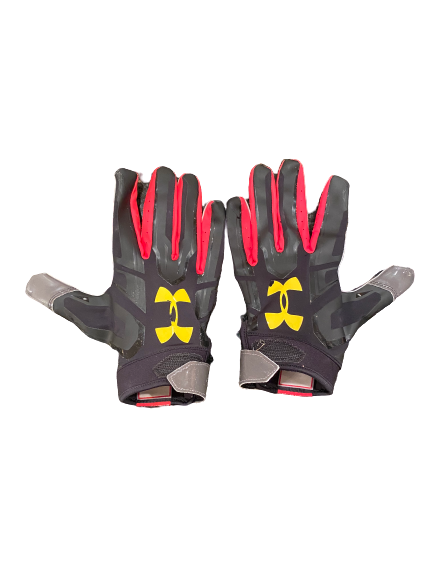 Shaq Smith Maryland Football Player-Exclusive Gloves (Size XXL)