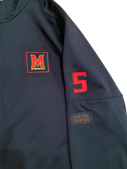 Shaq Smith Maryland Football Player-Exclusive Under Armour Zip-Up Jacket With Number (Size XL)