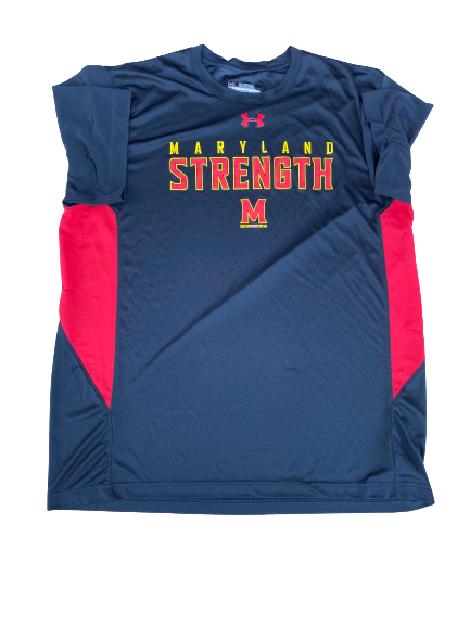 Kingsley Opara Maryland Strength Under Armour T-Shirt (Size XXL)