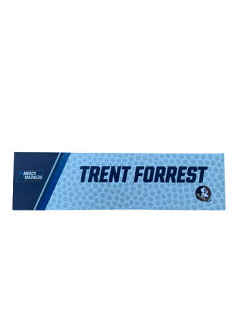 Trent Forrest March Madness Locker Room Name Plate