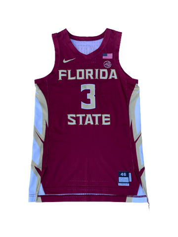 Trent Forrest Florida State Basketball Signed 2018-2019 Season Game-Worn Jersey (Size 46)
