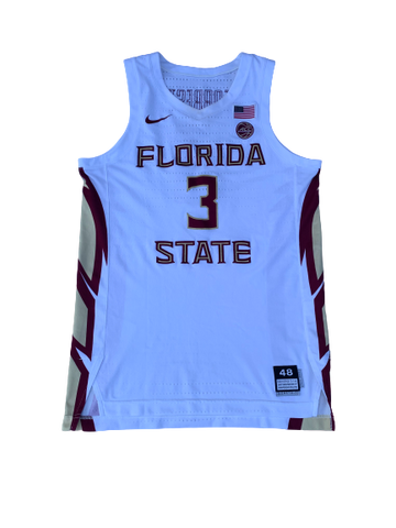 Trent Forrest Florida State Basketball Signed 2019-2020 Season Game-Worn Jersey (Size 48)