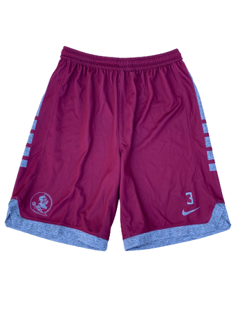 Trent Forrest Florida State Basketball Nike Practice Shorts With Number (Size M)