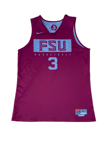 Trent Forrest Florida State Basketball Reversible Practice Jersey (Size L)