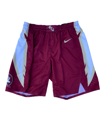 Trent Forrest Florida State Basketball 2018-2019 Season Game-Worn Shorts (Size 40)