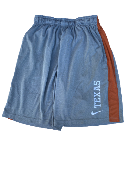 Dylan Haines Texas Football Team Issued Workout Shorts (Size L)