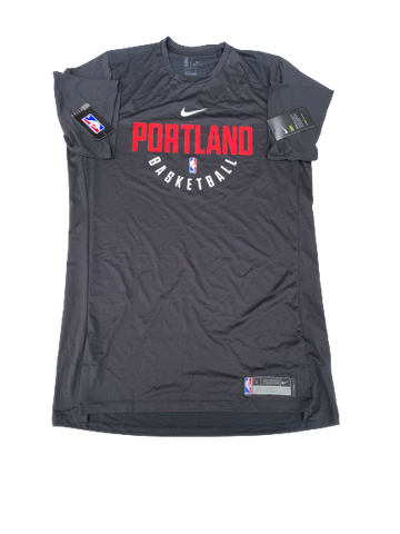 K.J. McDaniels Portland Trailblazers Team-Issued Workout Shirt (Size LT)