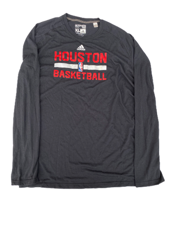 K.J. McDaniels Houston Rockets Adidas Long Sleeve Shirt (Size XLT)