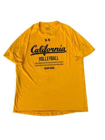 Bailee Huizenga California Volleyball Under Armour T-Shirt With Number On Back (Size L)