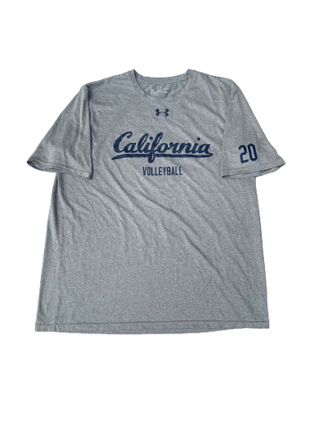 Bailee Huizenga California Volleyball Under Armour T-Shirt With Number on Sleeve (Size L)