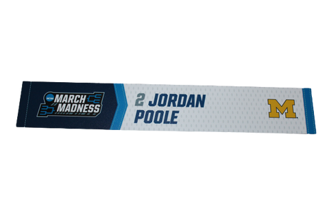Jordan Poole Michigan March Madness Sweet 16 Locker Room Name Plate