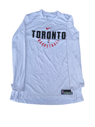 K.J. McDaniels Toronto Raptors Team-Issued Nike Long Sleeve Shirt (Size XL)