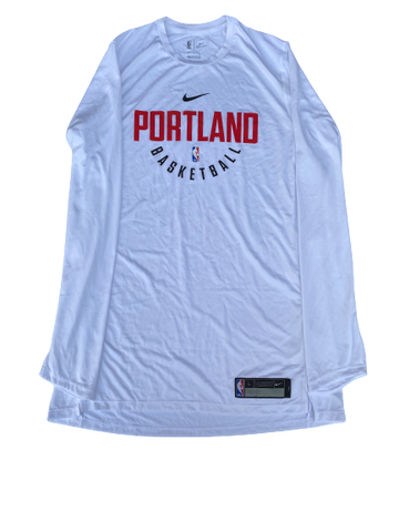 K.J. McDaniels Portland Trailblazers Team-Issued Nike Long Sleeve Shirt (Size LT) (New With Tags)