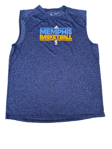 K.J. McDaniels Memphis Grizzlies Team-Issued Adidas Workout Tank (Size XLT)