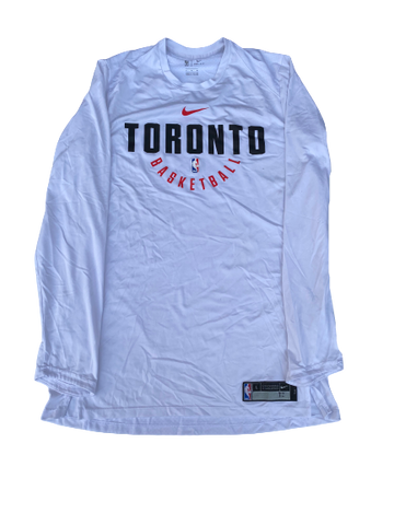 K.J. McDaniels Toronto Raptors Team-Issued Nike Long Sleeve Shirt (Size LT)