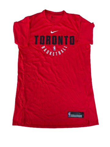 K.J. McDaniels Toronto Raptors Team-Issued Nike Workout Shirt (Size LT)