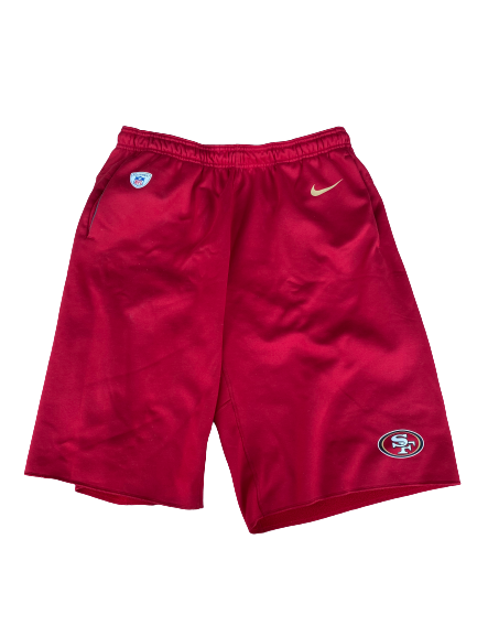 Jonas Griffith San Francisco 49ers Team Exclusive Sweat Shorts (Size XL)