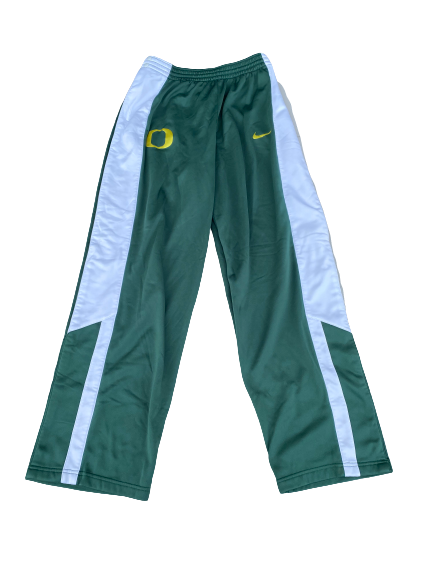 E.J. Singler Oregon Basketball Team Issued Snap-Off Warm-Up Pants (Size XL)
