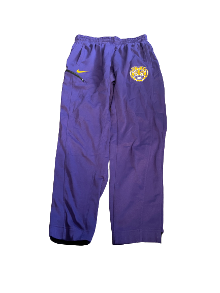 Brandon Sampson LSU Basketball Team Issued Travel Sweatpants (Size XL)