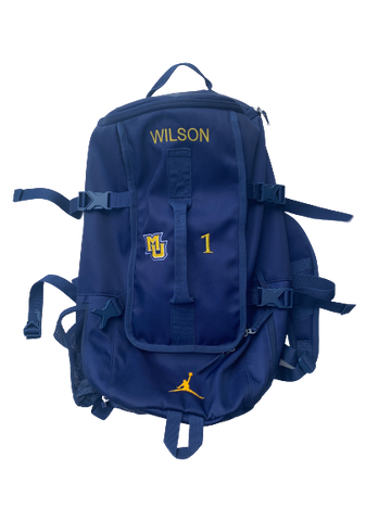Duane Wilson Marquette Basketball Backpack With Number
