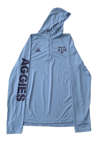 Duane Wilson Texas A&M 1/4 Zip With Hood (Size M)
