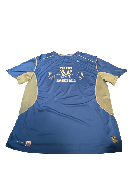 Trey McNickle Memphis Baseball Team Exclusive Strength Workout Shirt (Size XL)