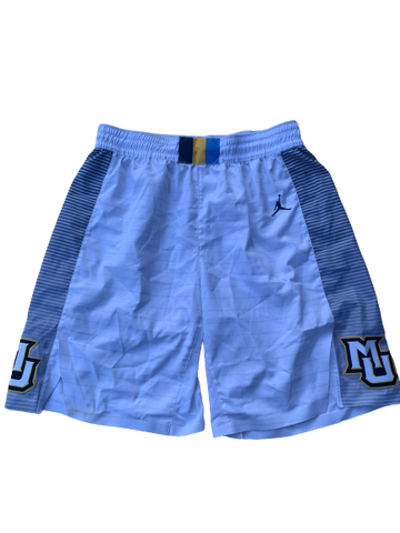 Duane Wilson Marquette Basketball 2018-2019 Season Game-Worn Shorts (Size 38)