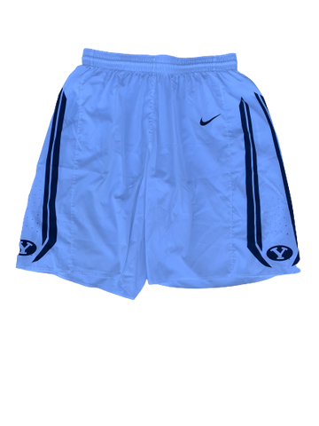 Jake Toolson BYU Basketball 2014-2015 Season Game-Worn Shorts (Size XL)