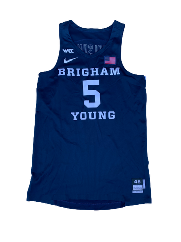 Jake Toolson BYU Basketball 2019-2020 Season Game-Worn Jersey (Size 48)