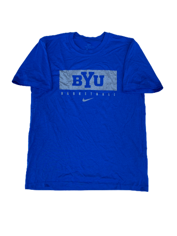 Jake Toolson BYU Basketball Nike T-Shirt (Size L)