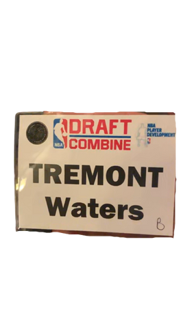 Tremont Waters NBA Combine Name Tag