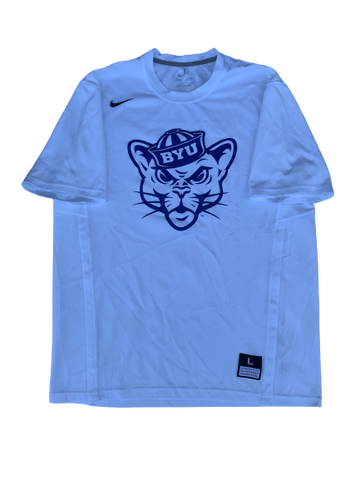 Jake Toolson BYU Basketball Pre-Game Shooting Shirt (Size L)