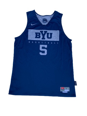 Jake Toolson BYU Basketball Reversible Practice Jersey (Size L)