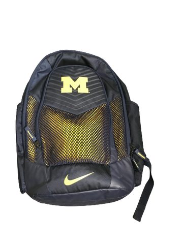 Karl Kauffmann Michigan Baseball Team Issued Backpack with Travel Tag