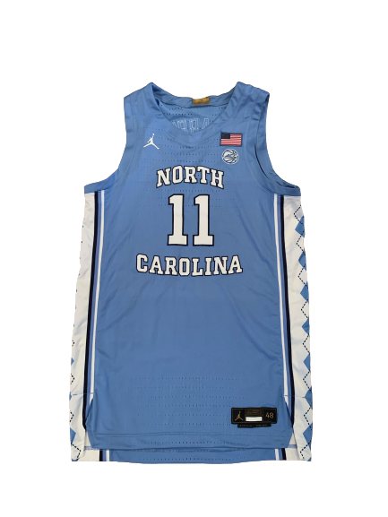 Day'Ron Sharpe North Carolina Basketball 2020-21 Game Worn Jersey
