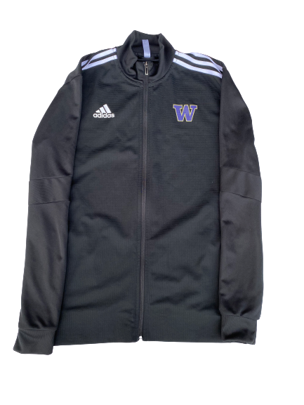 Nahziah Carter Washington Adidas Zip-Up Jacket (Size L)