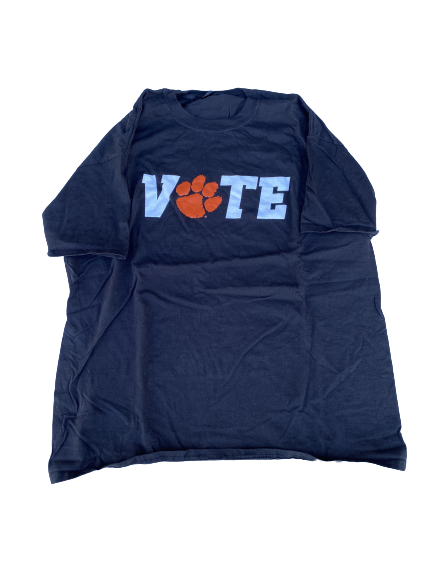 "Cornell Powell Clemson Football ""Vote"" T-Shirt (Size XL)"