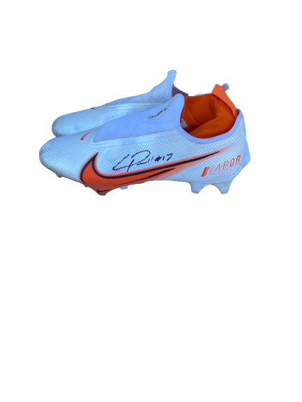 Cornell Powell Clemson Football Signed Game-Worn Cleats (Size 12)