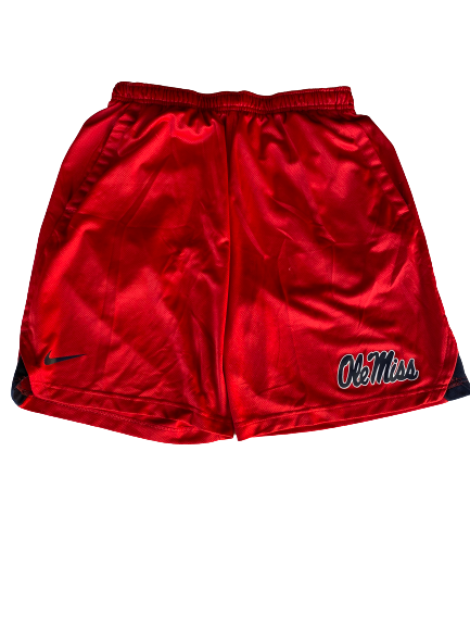 Zack Phillips Ole Miss Team Issued Workout Shorts (Size L)