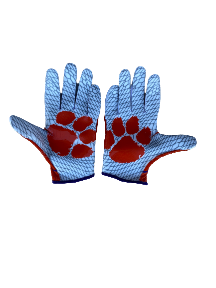 Cornell Powell Clemson Football Nike Gloves (Size XXL)