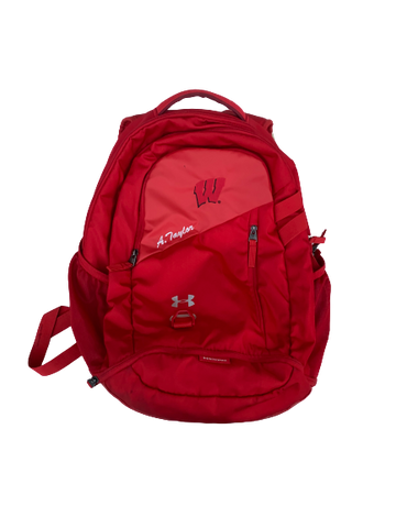 A.J. Taylor Wisconsin Team Issued Backpack with Name