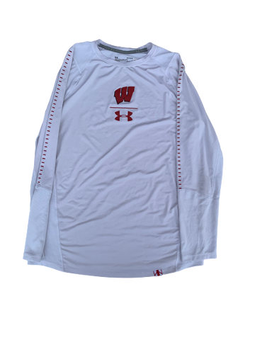 A.J. Taylor Wisconsin Team Issued Long Sleeve Shirt (Size L)
