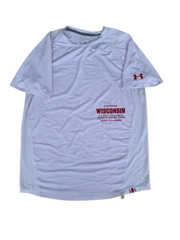 A.J. Taylor Wisconsin Team Issued Workout Shirt (Size L)