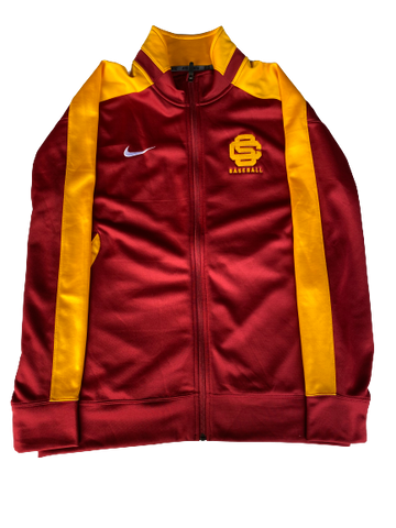Austin Manning USC Team Issued Warm-Up Jacket with Number (Size M/L)